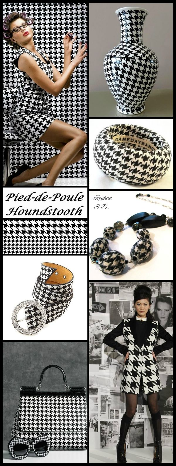39 39 pied de poule houndstooth 39 39 by reyhan s d schwarz - Farbmuster wandfarbe ...
