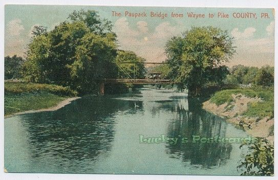 The Paupack Bridge from Wayne to Pike County PA 1908 Postcard Pennsylvania | eBay
