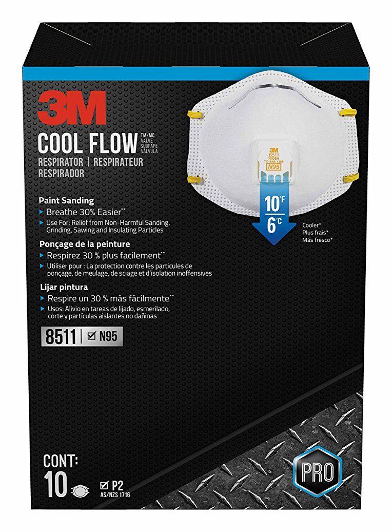 3m pro paint sanding and fiberglass vented respirators 10