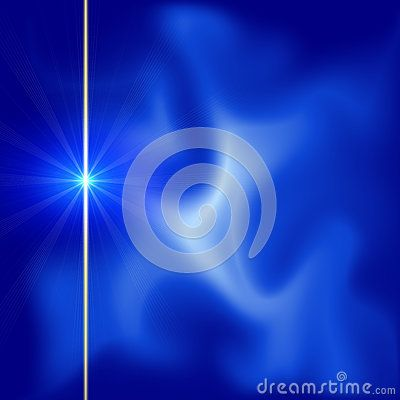 Cosmic star on blue nebula sparkling background. Planetarium image and texture.