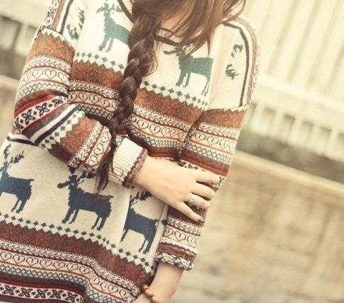 patterned oversized sweaters