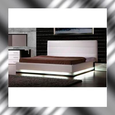 Cal King Modern Infinity Platform Bed W Illuminating Lights Save