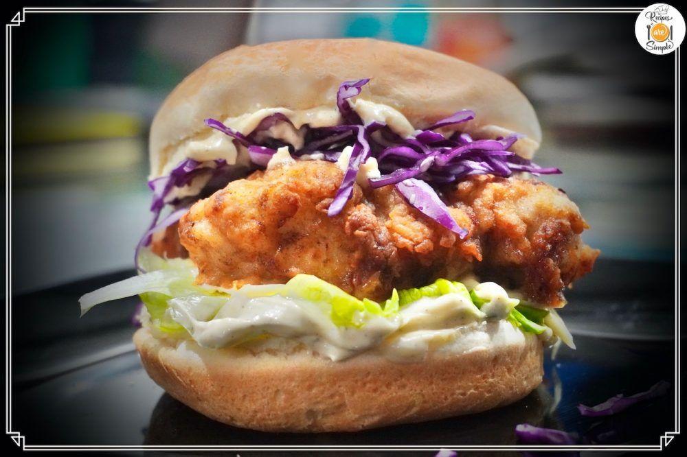 Best Buttermilk Chicken Burger Recipe In 2020 Buttermilk Crispy Chicken Crispy Chicken Burgers Chicken Burgers Recipe