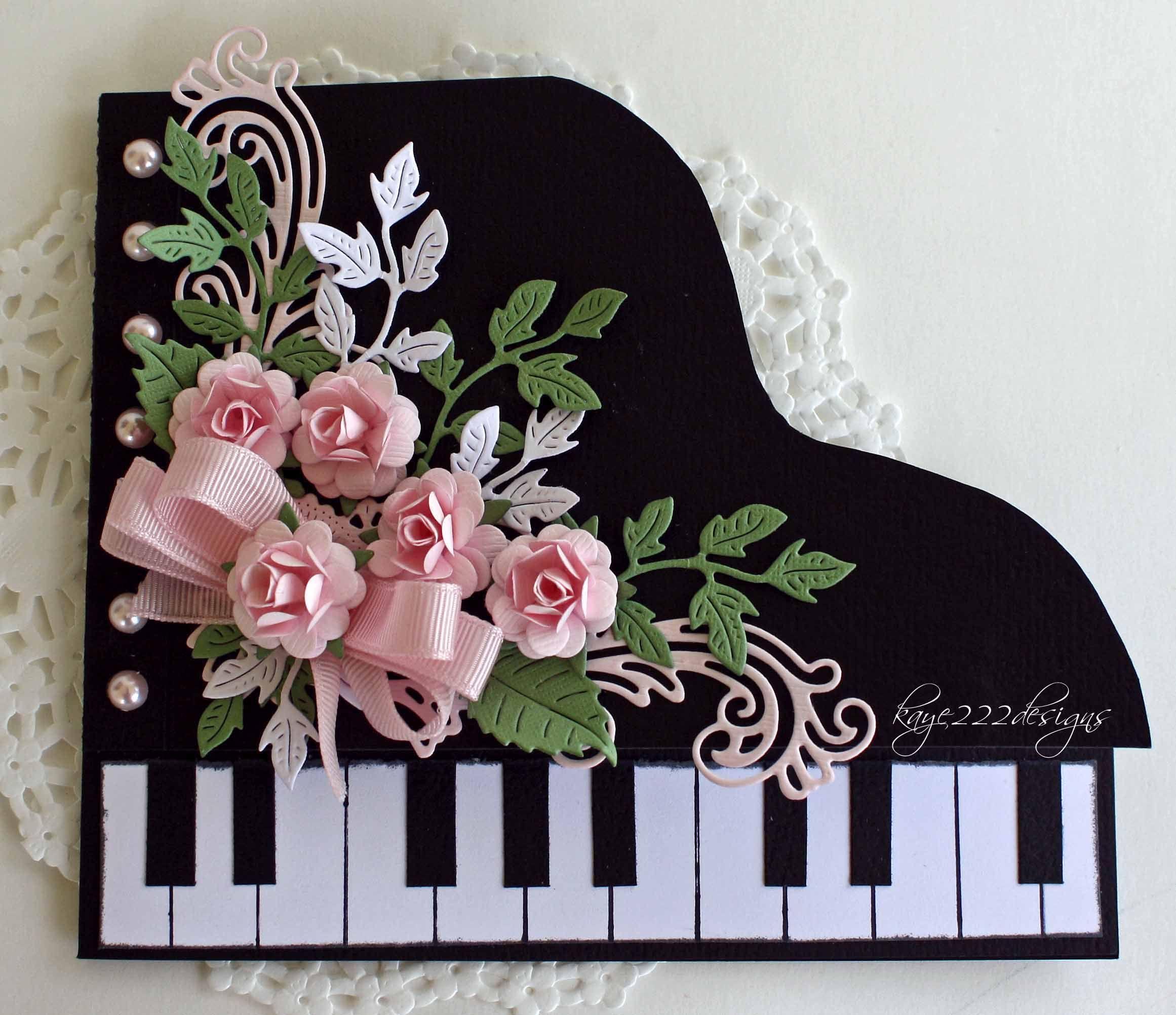 Piano Card Scrapbook Com Sliczne Kartki