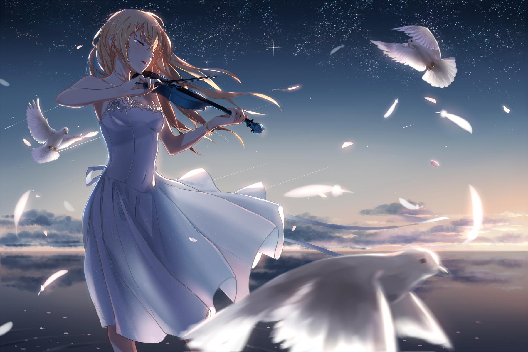 Shigatsu Wa Kimi No Uso Myazono Kaori Violin Shigatsu Wa Kimi No