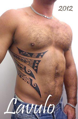 Tattoo Polynesian Ribs Stomach Tribal Kerry Lavulo Rib Tattoo Rib Tattoos For Guys Tattoos For Guys