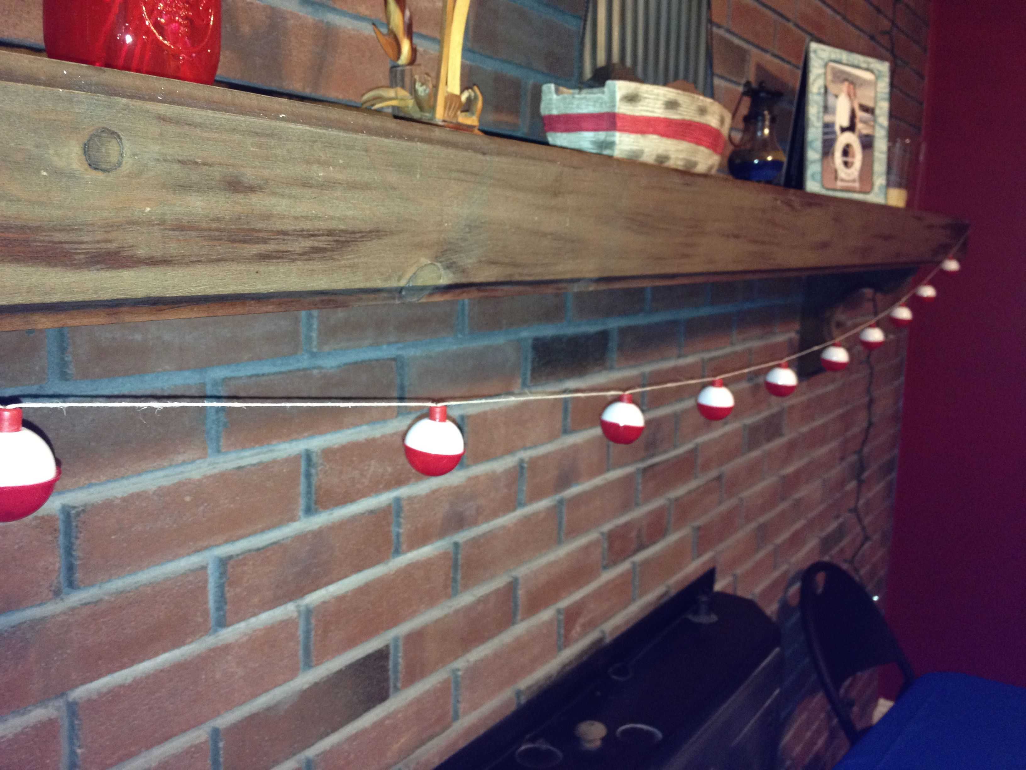 Bobber garland for nautical themed party