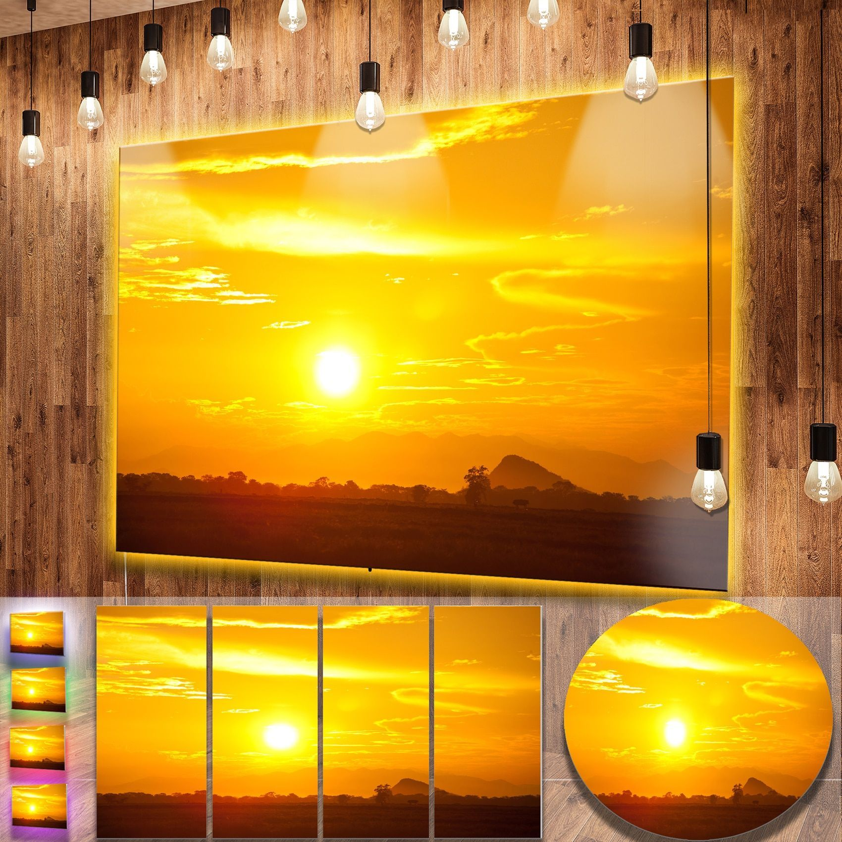 DESIGN ART Designart \'Bright Sky At Sri Lanka Sunset\' African ...