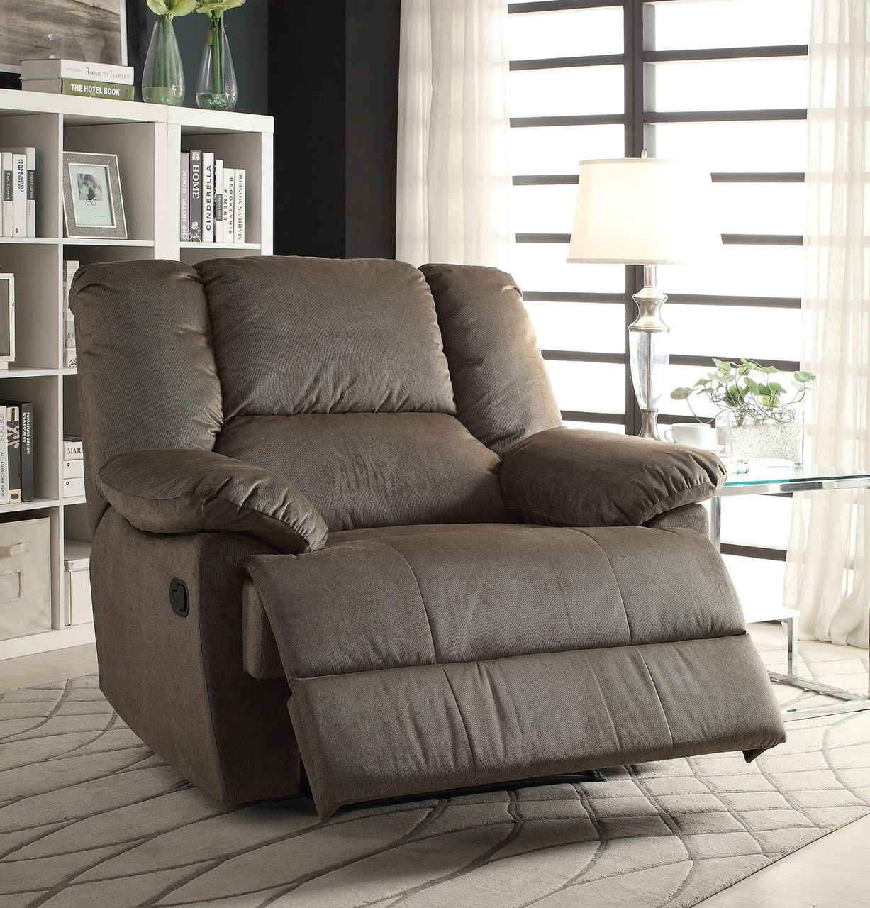 Oliver Sage Corduroy Glider Recliner Chair 59416  Recliner Gorgeous Living Room Recliners Decorating Inspiration