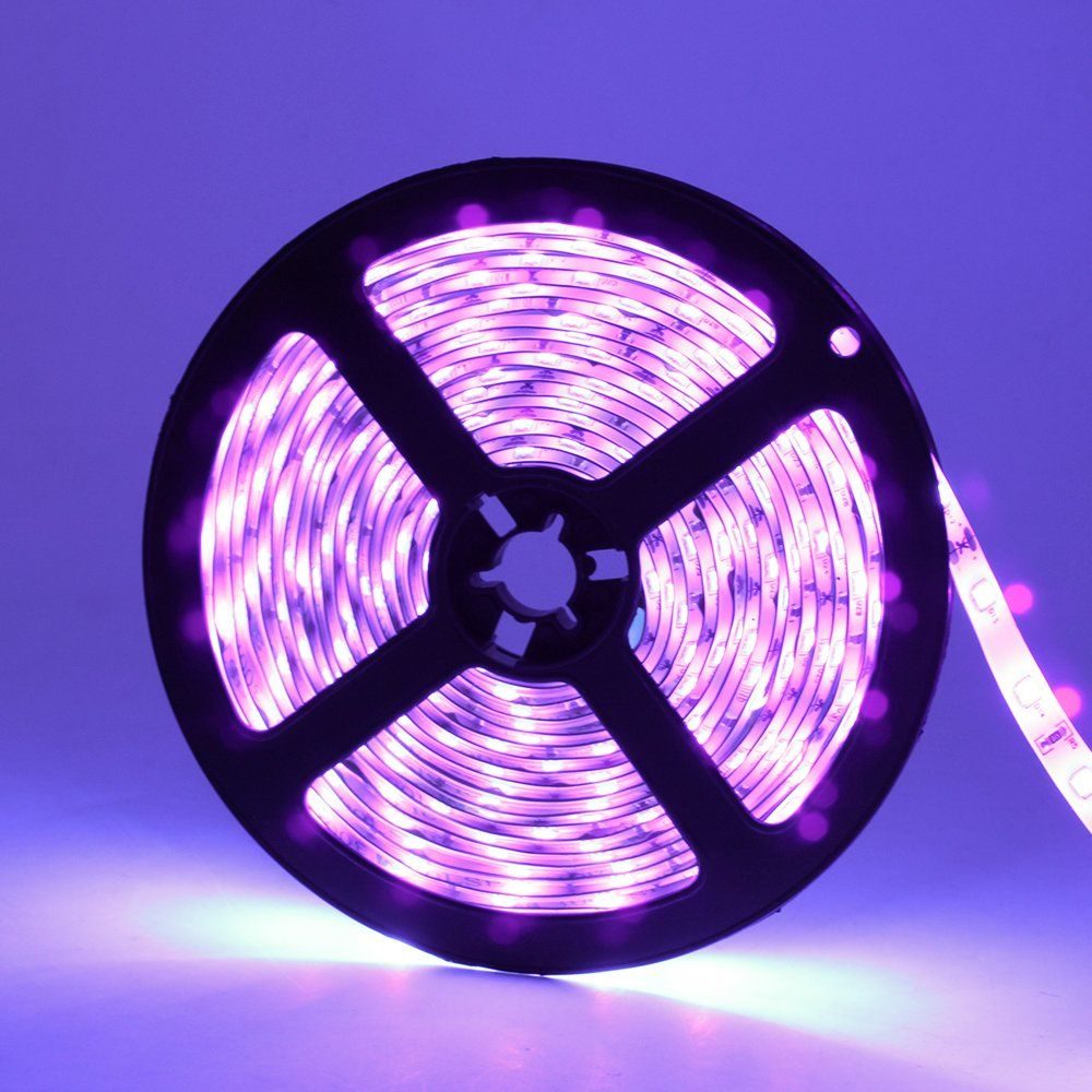 16 4ft 5m Led Uv Black Light Led Strip Light Led Tape Light For Christmas Decor Strip Lighting Black Light Led Led Tape Lighting