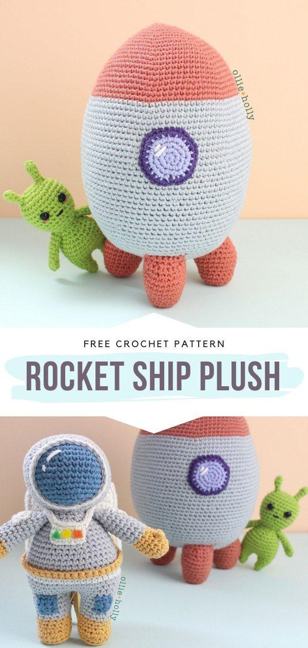 How to Crochet Rocket Ship Plush -   21 knitting and crochet Free Patterns kids ideas