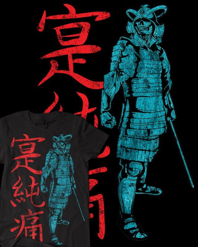 Download Samurai Skeleton Warrior T Shirt Black By Oblivion Design D6xnuo8 Jpg 640 800 디자인