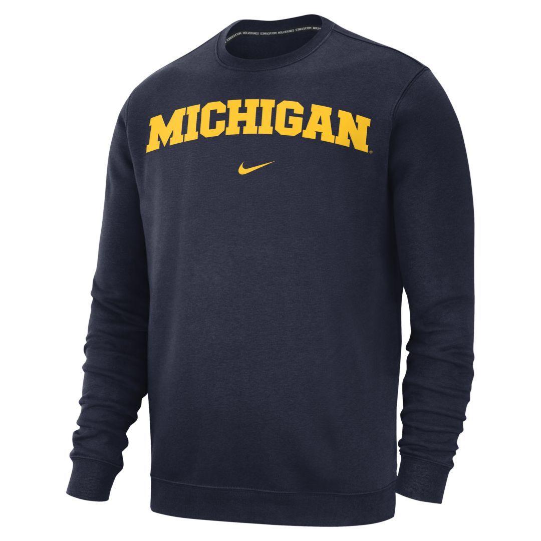Nike College Club Michigan Men S Sweatshirt Size S College Navy Club Sweatshirts Nike West Sweatshirts [ 1080 x 1080 Pixel ]