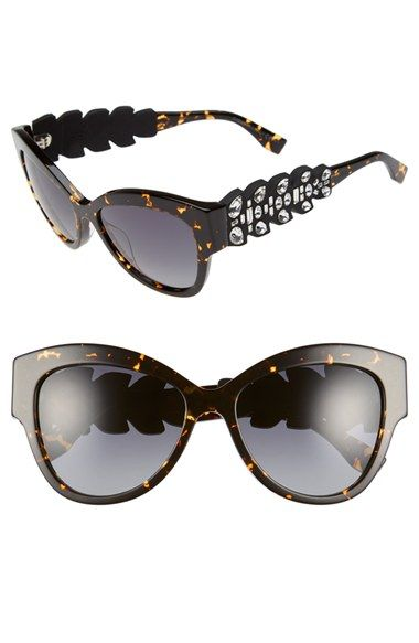 be00dccc24b Fendi 55mm Crystal Encrusted Sunglasses available at  Nordstrom ...