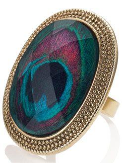 Biba Peacock Statement Ring