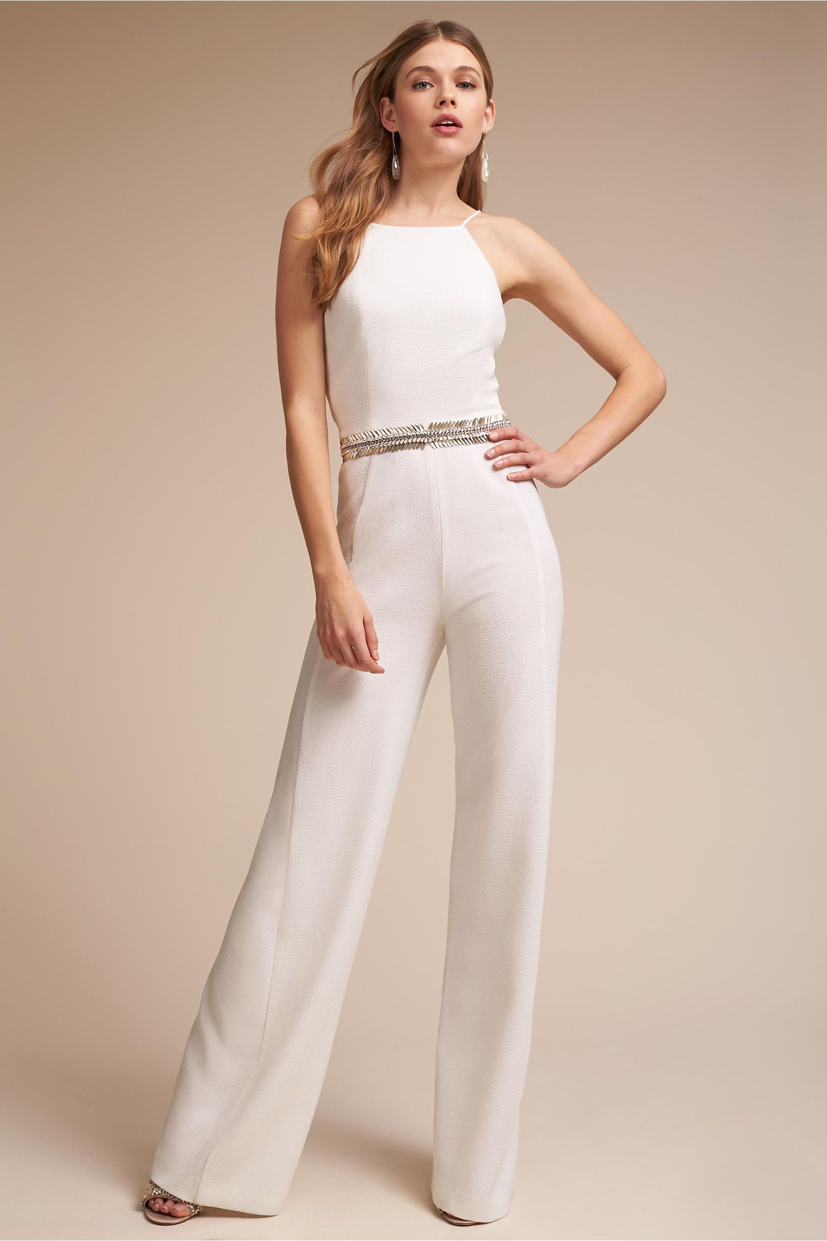 BHLDN\'s Black Halo Regent Jumpsuit in Ivory | Pinterest