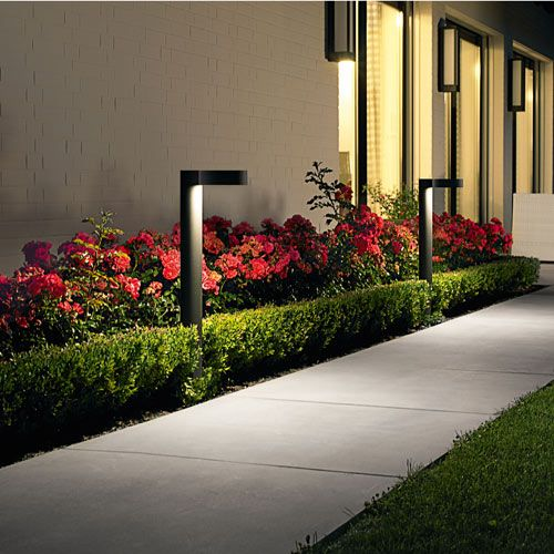 5 Pathway Lighting Tips Ideas Walkway Lights Guide: BEGA LED Garden And Pathway Bollard 7218/7219