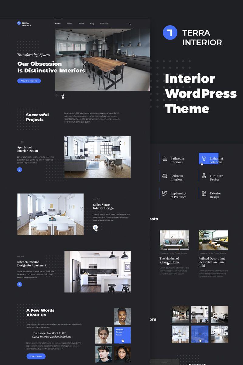 Interior Design Website Template 42812: Interior Design WordPress Theme #67238