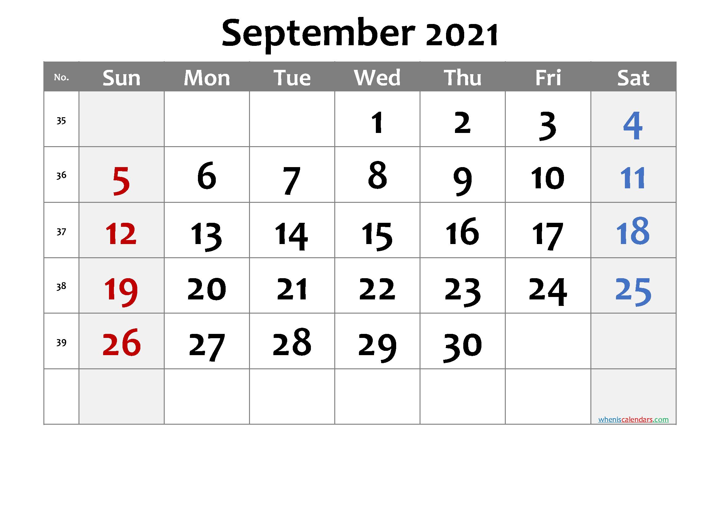 Free Printable September 2021 Calendar Premium In 2020 June Calendar Printable Printable Calendar Calendar Printables