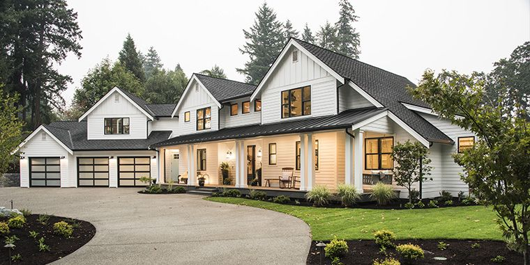 Get The Look The Great American Farmhouse Certainteed House Exterior Farmhouse Exterior Modern Farmhouse Exterior