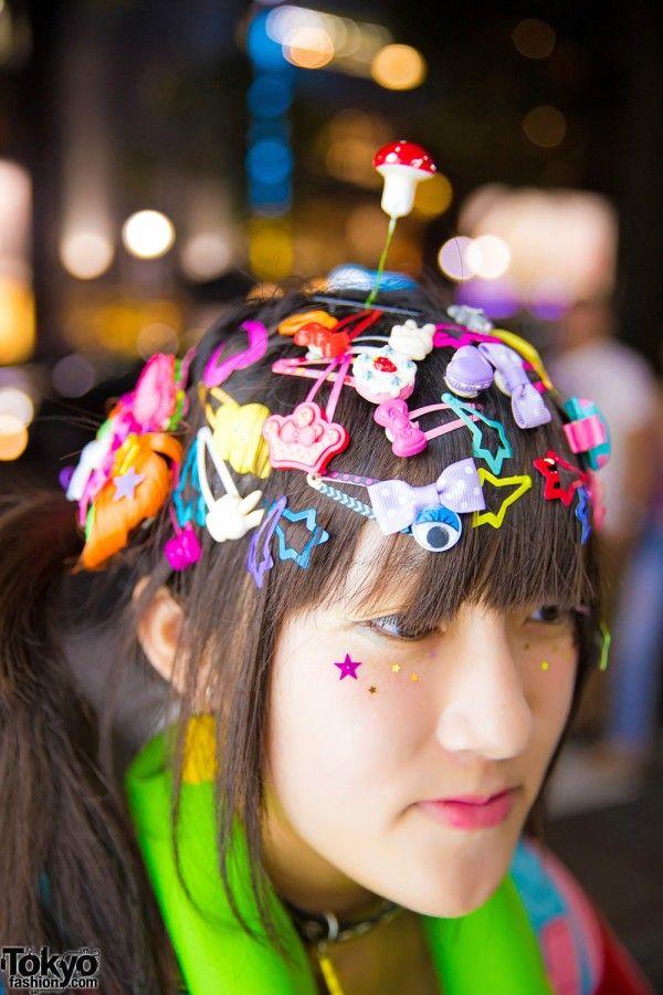 Harajuku Girl W Decora Hair Clips 90884 Kawaii Fashion Spinns Yosuke Kawaii Hair Clips Kawaii Fashion Kawaii Hairstyles