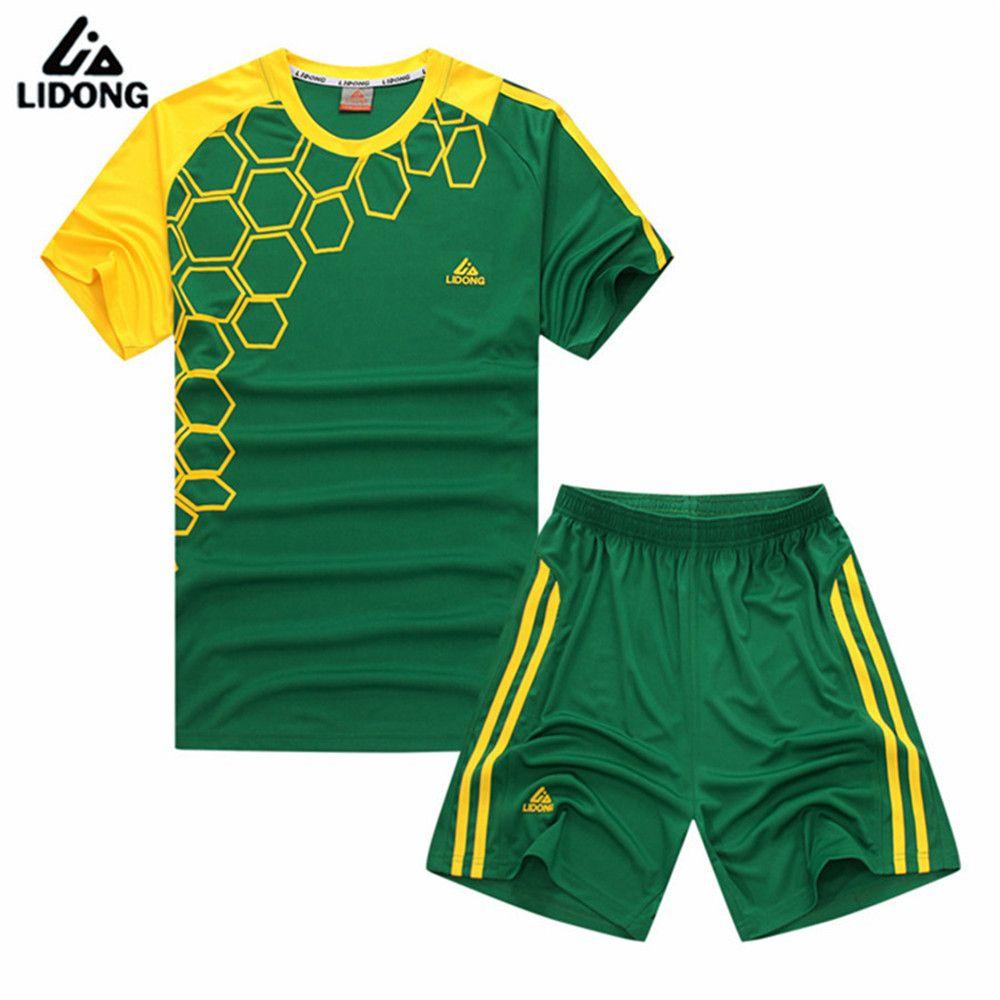 9e9591fb9d7 Survetement 2017 polyester kids football uniforms short sleeve boys soccer  jerseys set blank team training suit