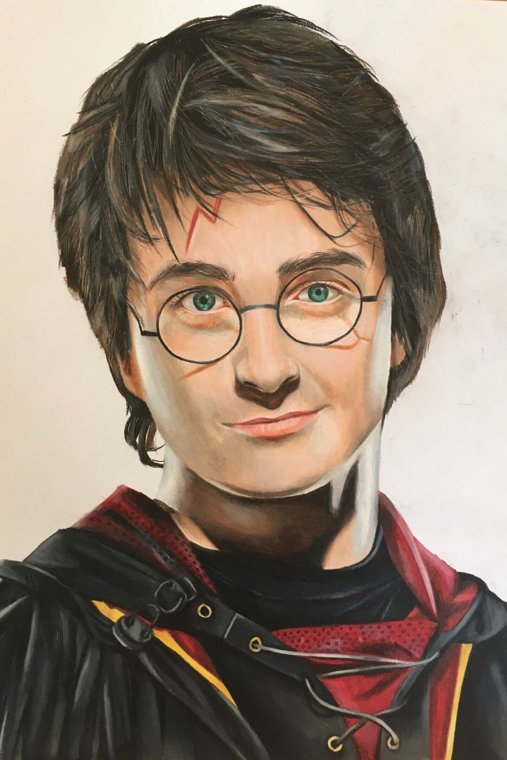 Realistic Drawing Of Harry Potter Colored Pencil Portrait Realistic Drawings Harry Potter