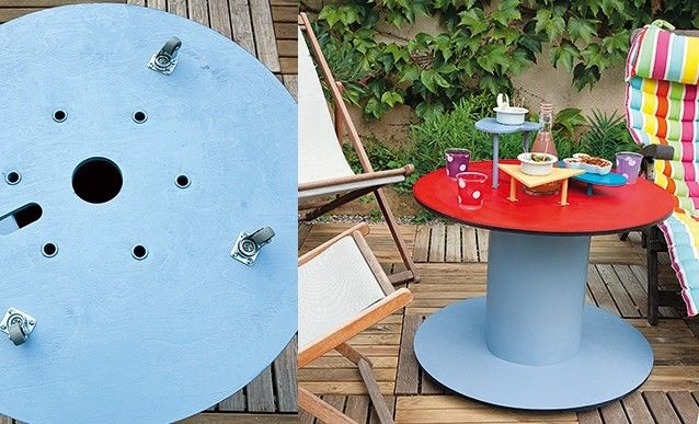 Comment Transformer Un Touret En Table De Jardin Table De Jardin Touret Table