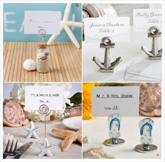 marque place mariage mer porte nom ancre eprouvette tongs ...