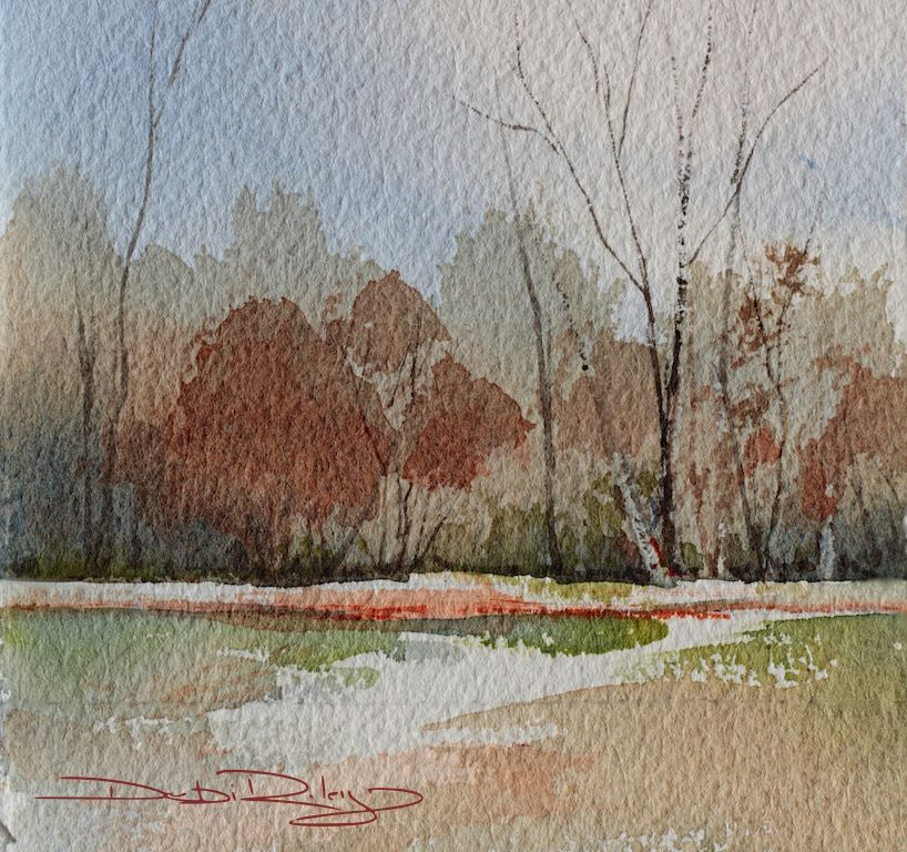 Sparking Your Creativity Watercolor Trees Watercolor Landscape