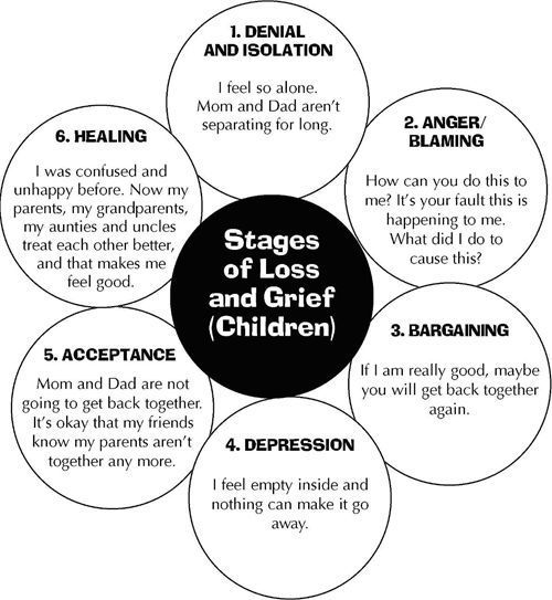 The Divorce Bag: Stages of Loss and Grief (Children