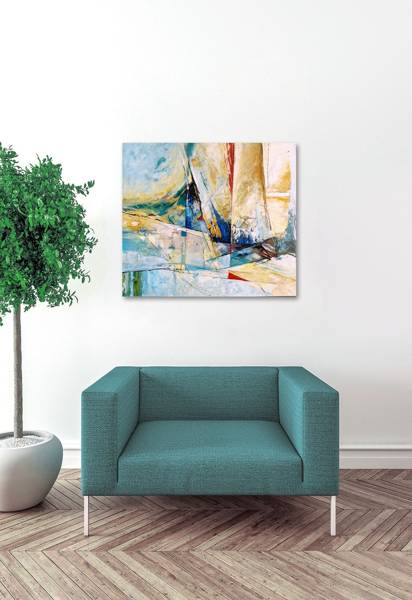 Sea Painting, Oil Painting Abstract, Boat Painting, Abstract Wall ...