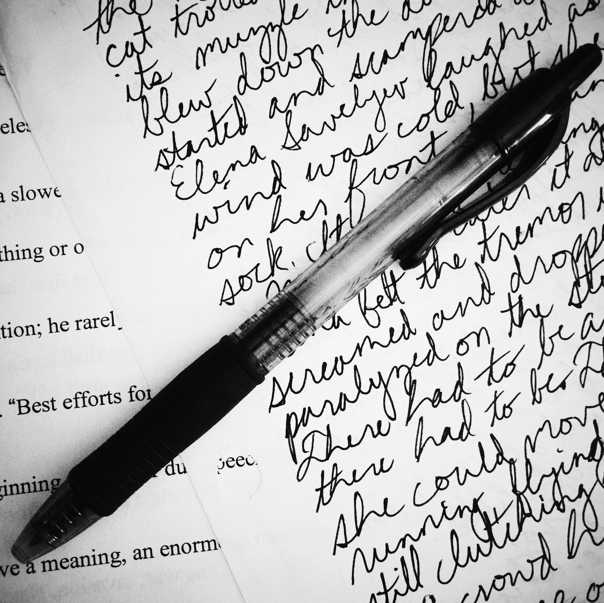 Tagebuch-erst maschinell (Schreibmaschine), dann, als sie auf der Flucht sind, handgeschrieben