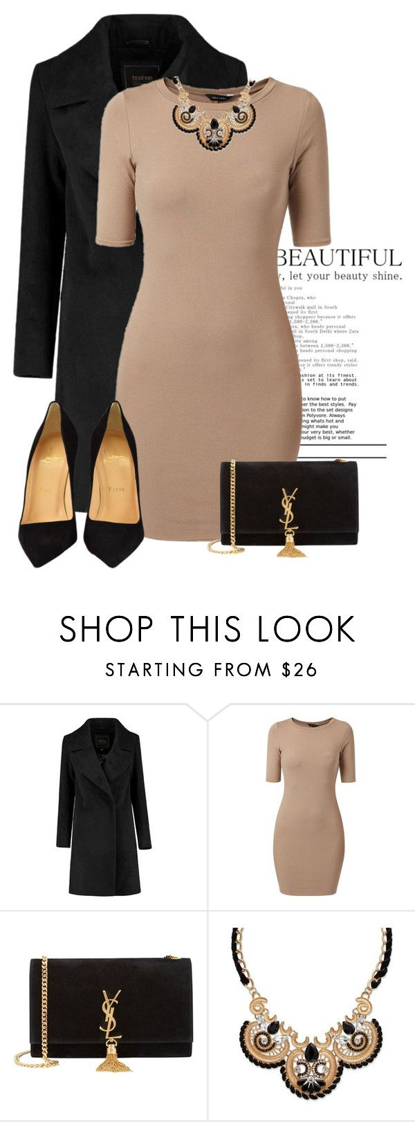 """Laura"" by swaggass ❤ liked on Polyvore featuring Yves Saint Laurent, Palm Beach Jewelry, Christian Louboutin, women's clothing, women, female, woman, misses and juniors"