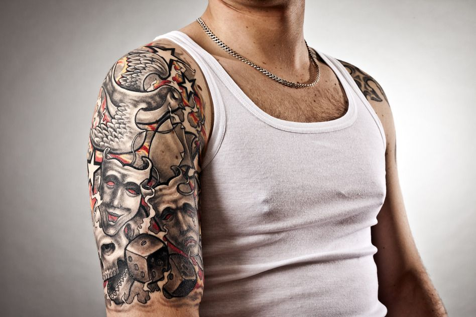 Amazing Tattoo Designs For Men Ikuzo Tattoos Shoulder Sleeve Tattoos Half Sleeve Tattoos For Guys Cool Half Sleeve Tattoos