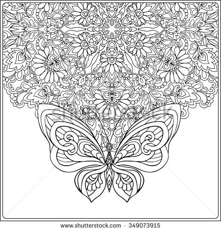 floral mandala colouring pages for adults - Google Search   para ...