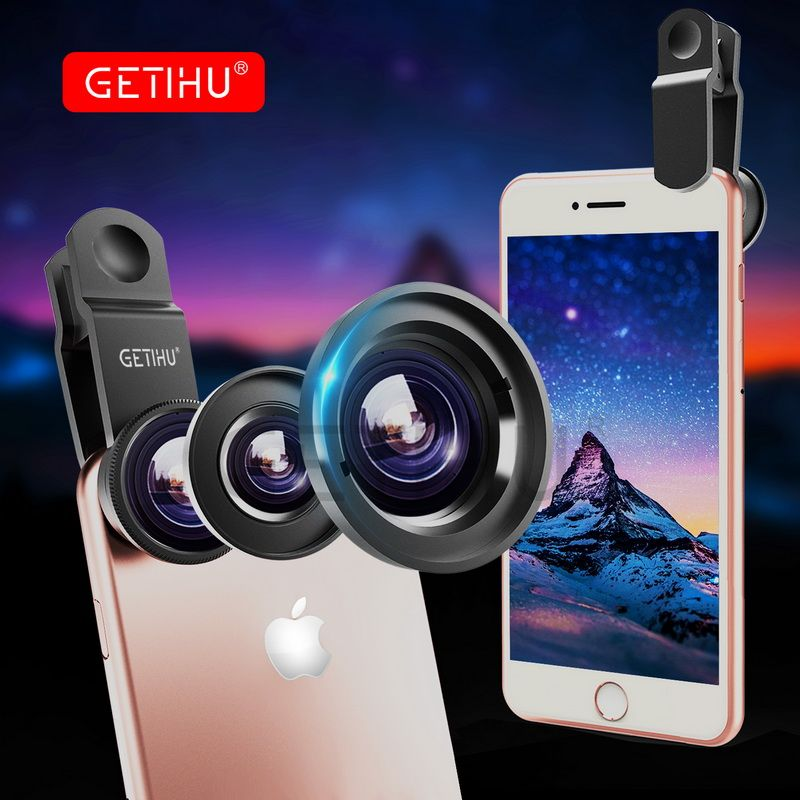 Universal Wide Angle Zoom Macro Lenses Mobile Phone Lens Fisheye