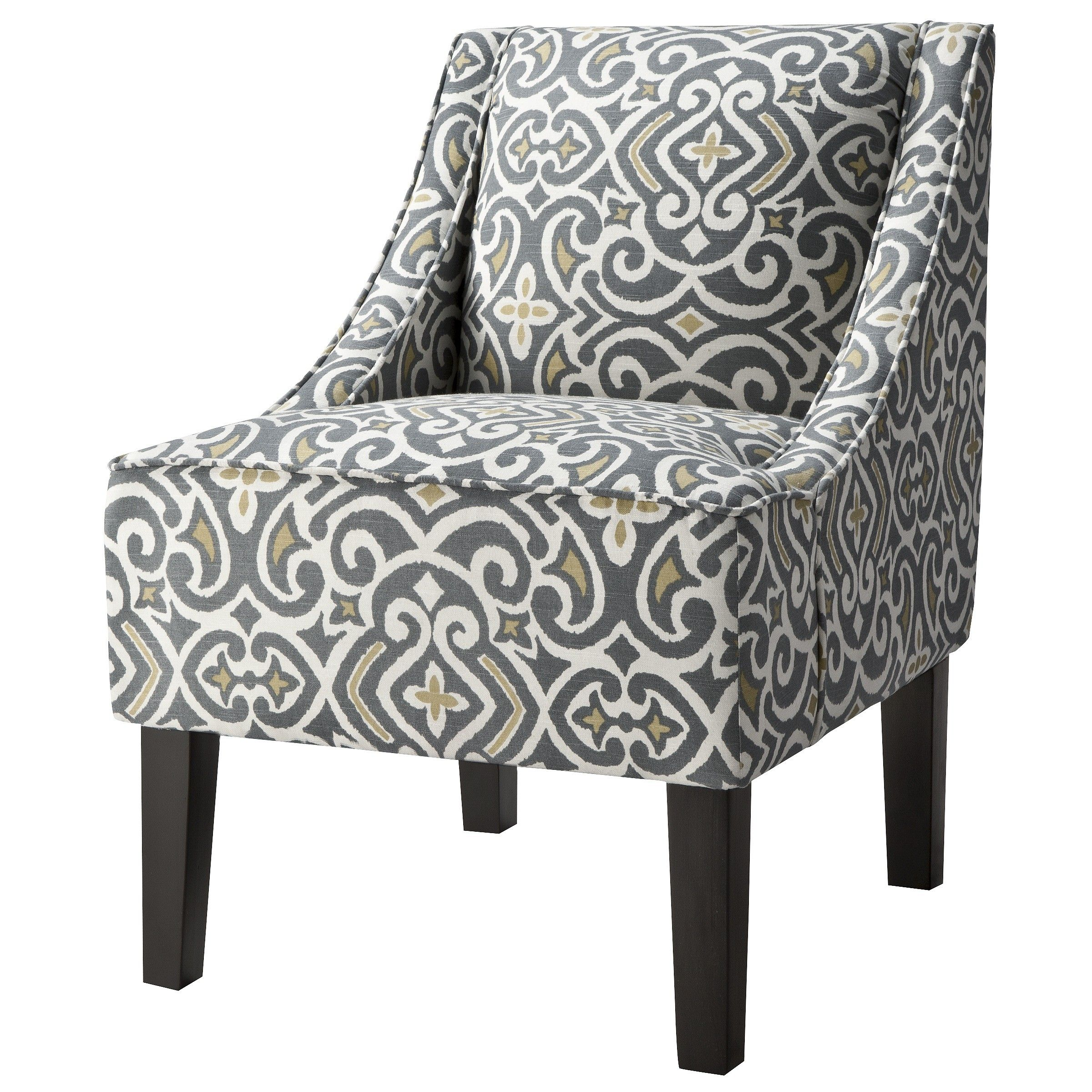 Missoni Style Print Accent Chair: Hudson Swoop Arm Chair - Gray Floral - Threshold™