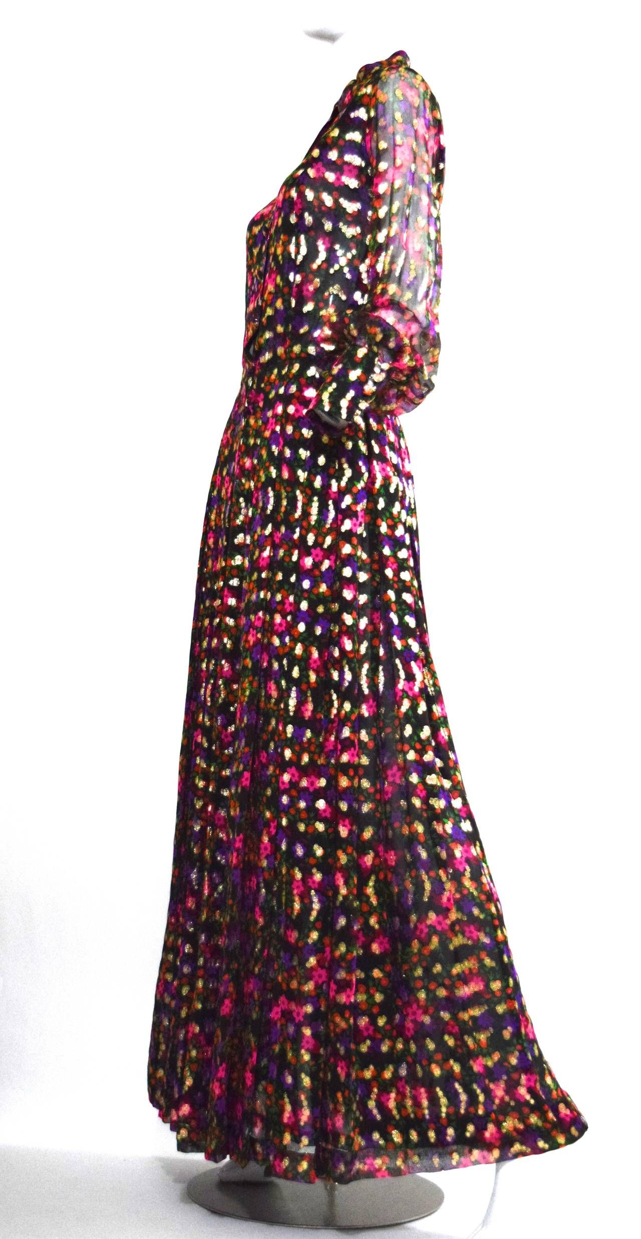 Stunning 1970s Chanel Haute Couture Gown no. 45509 | Haute couture ...