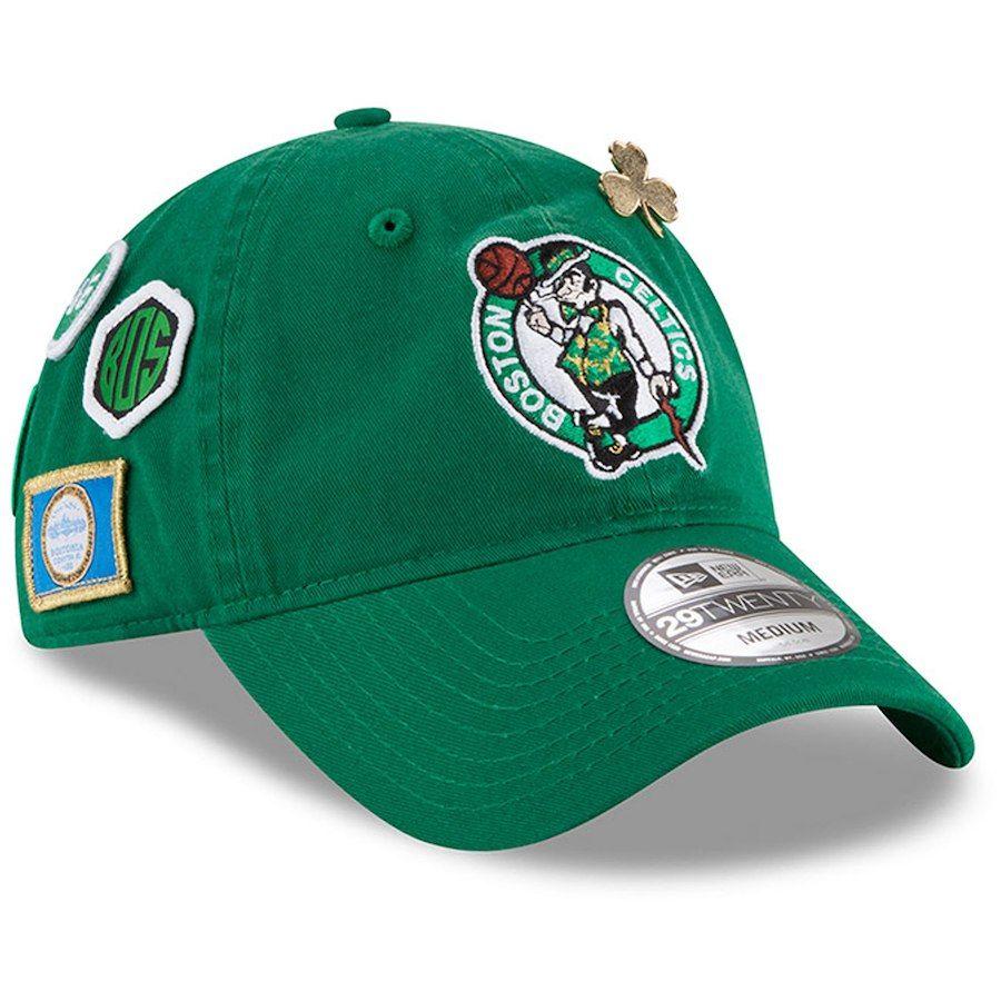 ee70ed9cbd5 Men s Boston Celtics New Era Kelly Green 2018 Draft 29TWENTY Fitted ...