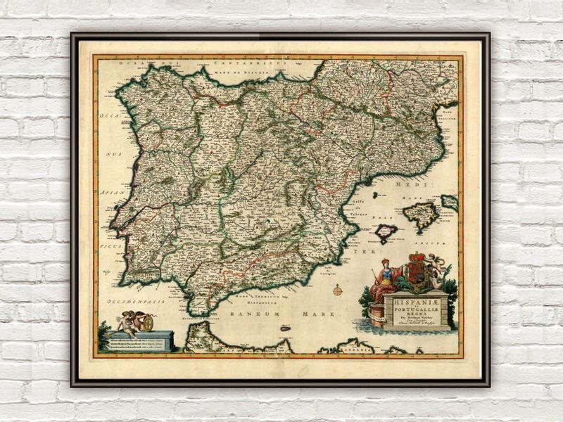 Old Map Of Spain Product Image Maps Pinterest Spain - Old map reproductions