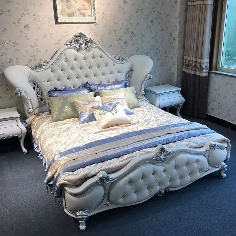 French Style Luxurious King Hotel 5 Star Pakistani Bedroom Set