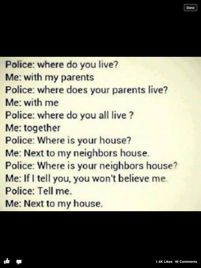 Thats what u do when a police asks u something | Best