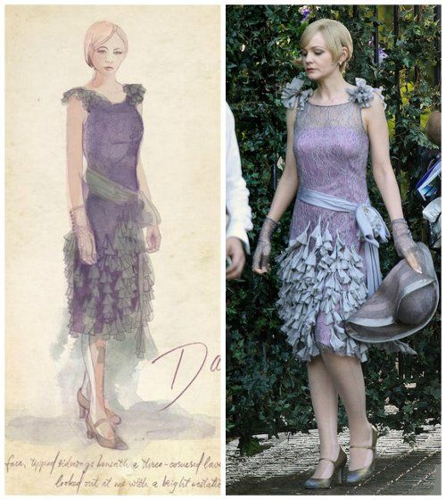 Custom Made Lavender Lace Dress Daisy Buchanan By Catherine Martin Costume Designer In The Great Gatsby