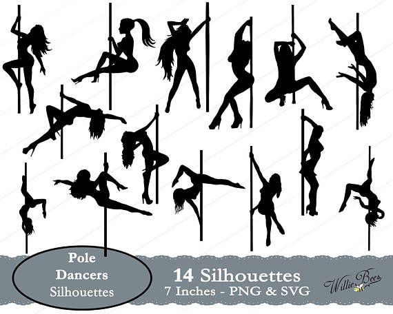 Pole Dance Silhouette Clip Art - Pole Dance Free Vector , Free Transparent  Clipart - ClipartKey