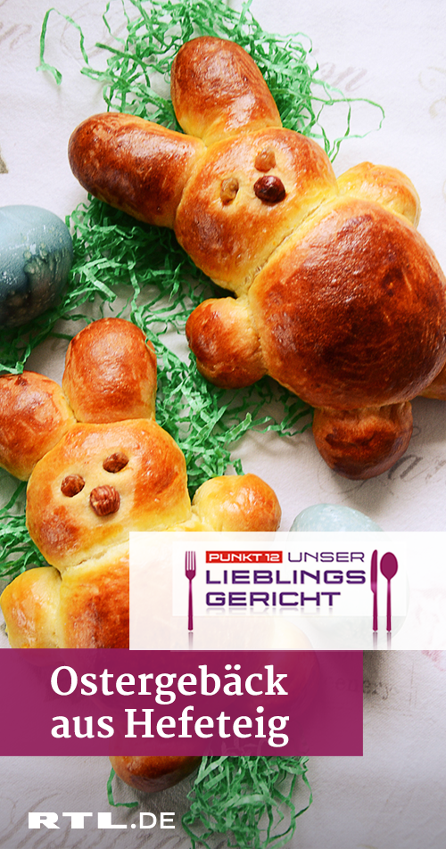 Photo of Recipe for yeast bunny rabbit, yeast braid and Easter basket