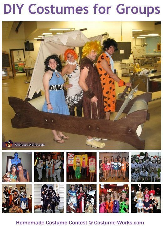 Homemade Costumes for Groups #grouphalloweencostumes