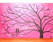 Pink - Tree with Birds