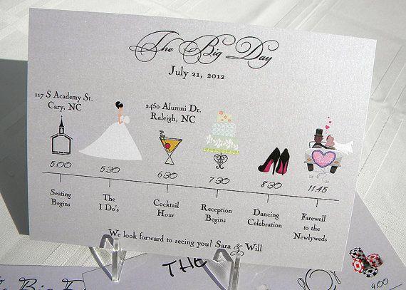 Wedding Timeline Invitations: Wedding Timeline Card- I WANT TO MAKE SOME BUT HAVE NO