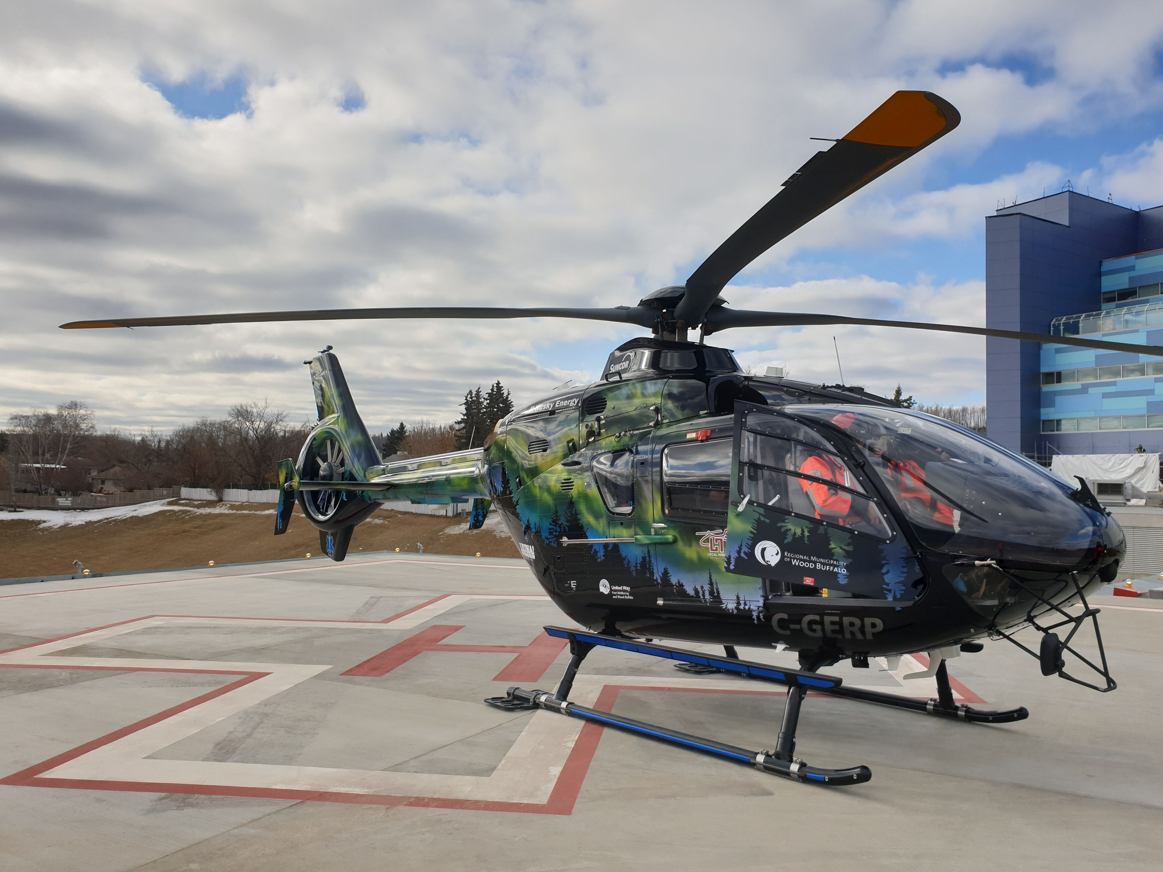 Health centres helipad ready to accept patients patient